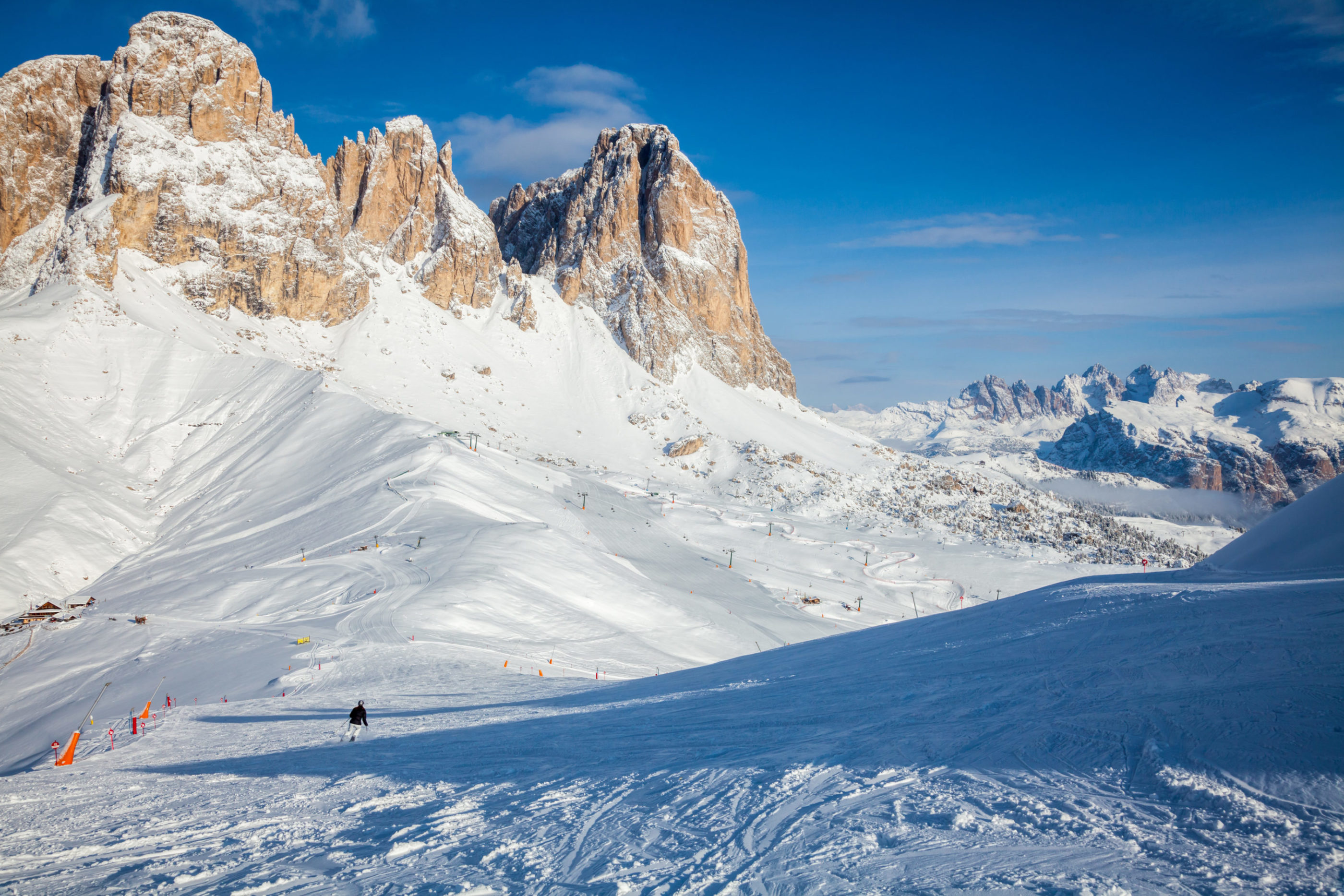Alpe di Siusi Ski Resort in Dolomites