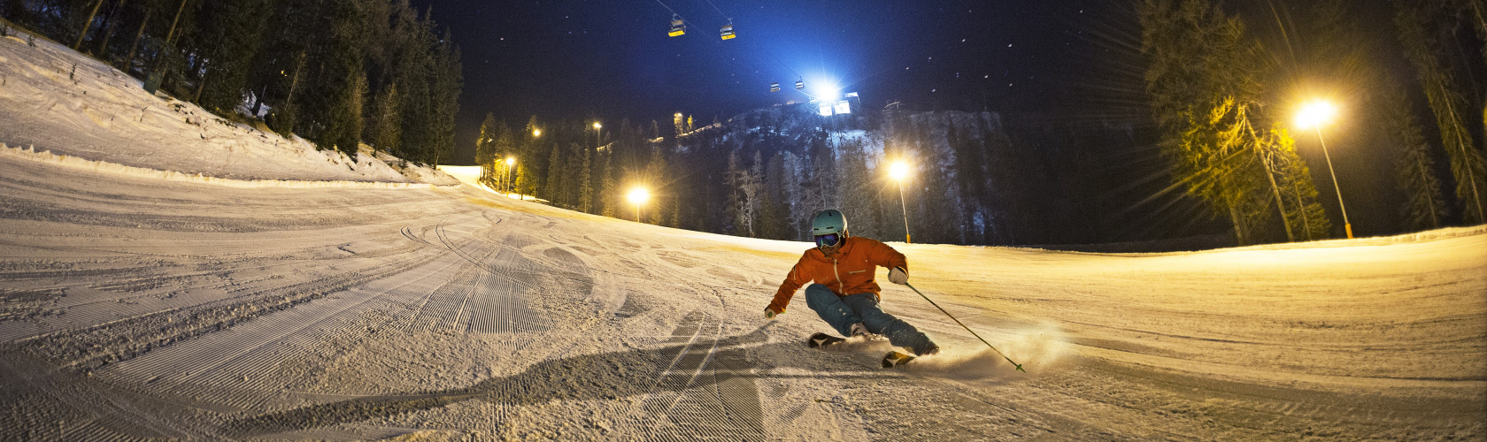 Schladming family holiday by night