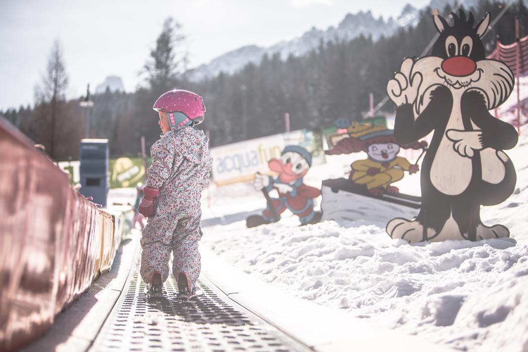 przedszkole narciarskie w 3 Zinnen Dolomites